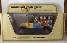 MATCHBOX YESTERYEAR Y-12 MODEL T FORD 'SUNLIGHT SEIFE' RARE MOY