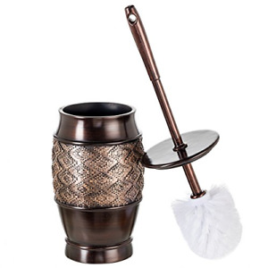 Dublin Decorative Toilet Cleaning Bowl Brush with Holder and Lid - (5 x 5 x...