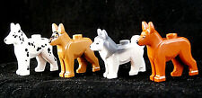 ☀️NEW Lego Friends Animal Pet Dog 4x German Shepherd Dalmatian Husky Minifigure