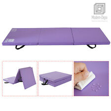 """New listing Tri-fold Gym Mat 2"""" Thick Foam Fitness Gymnastics Exercise Mats for Kids Adults"""