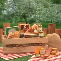 Sausage & Cheese Crate Grained Mustard Jalapeno Cheese Triangle Signature basket