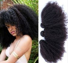 8A 100% Afro Kinky Curly Virgin Brazilian Hair Natural Black 100g Bundle Piece