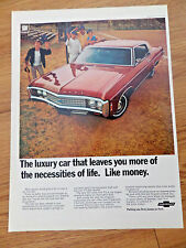 1969 Chevrolet Impala Custom Coupe Ad    Baseball softball Theme
