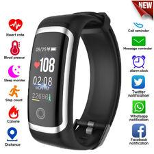 Wasserdicht Smart Armband Smartwatch Fitness Tracker Pulsuhr Blutdruck Uhr IP67