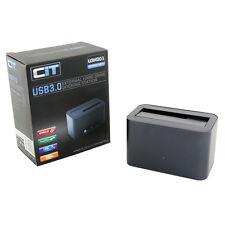 """CIT USB 3.0 Hard Drive Docking Station for 2.5"""" 3.5"""" SATA HDD External U3HD01"""