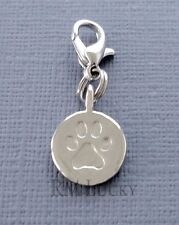 Dangle tag Dog paw print Clip On Charm Fits Link Chain, floating locket S221