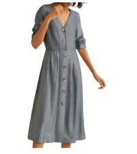 Mango Herringbone Front Buttons Effect Dress Size M
