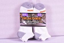 Men's Realtree Cushion Comfort Low Cut Socks, White - 6 Pairs