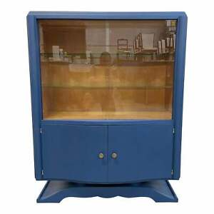 1940s French Art Deco Vitrine or Dry Bar Cabinet .