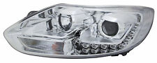 LHD Projector Headlights Lamp Part Chrome LED U DRL For Ford Focus 4/11- On