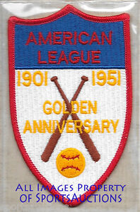 1951 AMERICAN LEAGUE 50th Anniversary COOPERSTOWN COLLECTION PATCH Willabee Ward