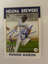 Ronnie Gideon  2016 Signed Helena Brewers Team Card