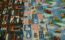 100% Cotton Lot of 3 Fabrics, Vip by Cranston and other, 4 Yards Total, New