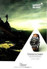 Mont Blanc Montblanc 1858 Geosphere Watch - Israel Ad. 2018 Advertising Print