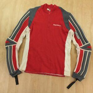 SPYDER striped padded wool ski sweater LARGE vtg 80s 90s colorblock