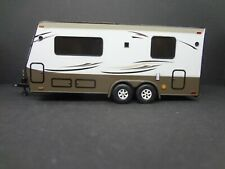 Camper Trailer White/Beige/Brown 1:64 Scale - Loose New Mint