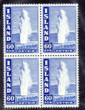 Iceland - Facit# 233   / Sc# 208A MH / Block of (4)    /      Lot 0420622