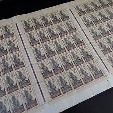 FEUILLE SHEET GABON FRANCE COLONIE N°89 x75 1924 NEUF ** MNH RARE!