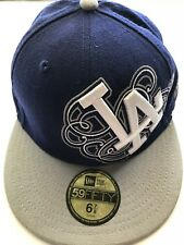 Los Angeles Dodgers New Era 59Fifty Fitted 6-7/8 MLB Baseball Hat Blue