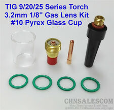 8 pcs TIG Welding Torch Gas Lens Pyrex Cup Kit  for Tig WP-9/20/25 Series 1/8""