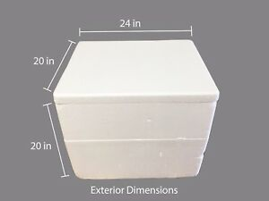 """Extra Large Styrofoam Coolers, 20"""" x 16"""" x 16"""" (interior), Shipping, Catering"""