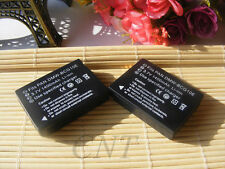 2x Battery Pack for Panasonic DMW-BCG10PP DMW-BCG10E DMC-ZS3 ZS1 ZX1 ZR1 Series