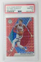 2019-20 Panini Red Mosaic Prizm Matisse Thybulle Rookie RC #245, Graded PSA 10