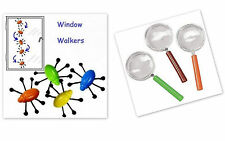 10 X Bugs/Insects,Toys,Party Bag Toys + Pack of 10 Plastic Magnifying Glass