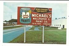 NY Syracuse New York Michael's Wallpaper & Paint Sign Advertising Baltimore PC
