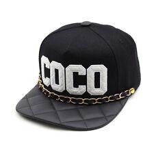16a1a74609b Unisex Mens Womens Teamlife COCO Chain Casual Baseball Cap Strapback Hats  BLACK