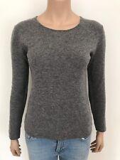 ORIG ns... Cashmere cachemira suéter blogueros talla M capucha gris