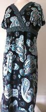 Croft & Barrow Stretch SZ XL Womens  Y-Neck Soft Cotton Paisley Dress b1
