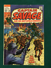 CAPTAIN SAVAGE AND HIS BATTLEFIELD RAIDERS #10 12 CENT MARVEL COMIC BOOK