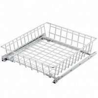 Pull out Wire Basket Silver-heigh 12cm-Bedroom Drawer Wardrobe 300 400 500 600mm