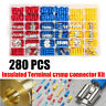 280PCS Assorted Crimp Terminal Insulated Electrical Wire Connector Spade Kit Set
