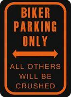 Motociclista Estacionamiento Sólo Cartel de Chapa Metal Tin Sign 30 X 40CM