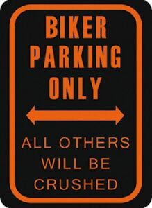 Biker Parking only Blechschild Schild Blech Metall Metal Tin Sign 30 x 40 cm