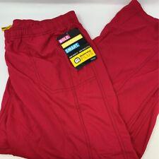 Wonder Wink Womens Boot Cut Cargo Scrub Pants Red Pockets Plus Petites 2Xp New