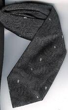 cravate soie Come Prima anthracite avec petit imprimé gris clair