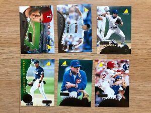 Nice 6 card 1995 Pinnacle Artist Proof Lot Randy Myers Rey Sanchez & More LOOK!