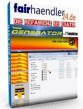 HOMEPAGE GENERATOR + 7 TEMPLATES Deutsches Tool Webseite erstellen Vorlagen MRR