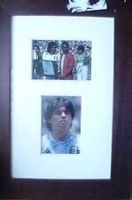 Original hand signed Framed Display-George Best, PELE & Diego Maradona (RARE)