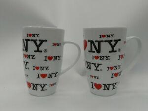 (ref288MG1)  Pair of I Love New York Coffee Mugs City Merchandise