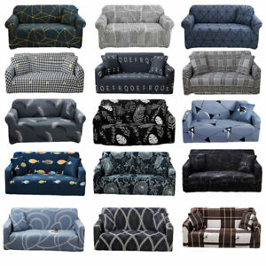 1/2/3/4 Seater Sofa Slip Cover Stretch Recliner Covers Couch Elastic Slipcovers