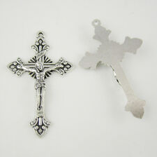 100pcs of 2 Inches Alloy Religious Rosary Crucifix Cross Pendant