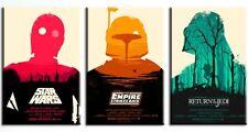 ZEIT4BILD Star Wars FILM Begriffsklärung 3 BILDERN 40cmx60cm LEINWAND 120cmx60cm