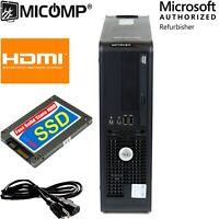 Dell Desktop Computer PC 8GB RAM New 120GB SSD Windows 10 Professional HDMI WiFi