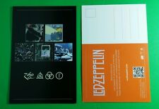 Led Zeppelin Symbols Triquetra Promo Black Orange Mini Poster 4x6 Music Postcard