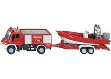 SIKU Unimog Fire Engine w/ Boat 1:87 scale diecast NEW model # 1636