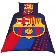 Barcelona FC Single Duvet Cover Bed Set Stripe Crest Football FCB Bedding New